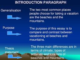 compare and contrast essay  restate thesis statement 5 introduction paragraphgeneralisation the two most common places people