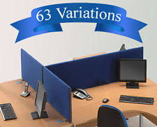office desk dividers. Office Desk Divider Partition Screen Panel H450mm X 7 Widths- Fast \u0026 Free £42.99 Dividers