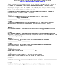 examples of job objectives for resume resume objective sample resumes samples template simple resume statement examples of career objectives for resume