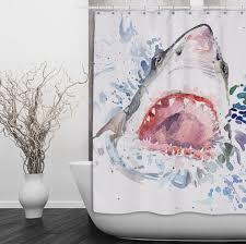 full size of decorating graceful shark shower curtain 3 c surprising shark shower curtain 7