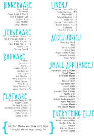 wedding registry list. Tackling The Gift Registry Squirrelly Minds