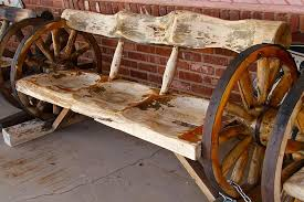 Bench Photograph - Wagon Wheel Bench by Denise Mazzocco