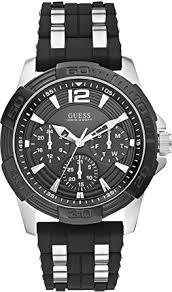 guess men s watch xl analogue rubber quartz w0366g1 amazon co uk guess men s watch xl analogue rubber quartz w0366g1