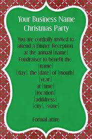 Holiday Dinner Invitation Template Holiday Christmas Fundraiser Dinner Reception Invitation