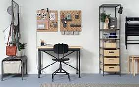 Ikea office ideas photos Home Office In Tight Spaces An Office Can Double As Dining Room Ikea Workspace Inspiration Ikea