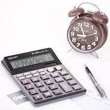 Deli ev ofis sesli hesap makinesi büyük ekran gösterir 12 haneli müzik  çalar saat finansal muhasebe çok fonksiyonlu hesap makinesi|Calculators