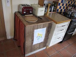 Pallet Kitchen Furniture Kitchen Cupboard Made From An Old Pallet Freezers Pallets And