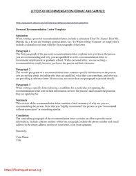 Sample Letter Of Recommendation Employee Letter Of Recommendation Template For Employee Samples Letter