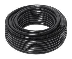 vale braided pvc hose 30m coil black