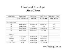 Image Result For Envelope And Card Chart Card Envelope