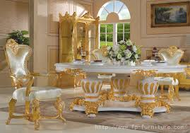 Gold Dining Room Table New Style Wooden Antique Gold Leaf Dining - Leaf dining room table
