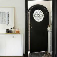 black glass panel front door design ideas
