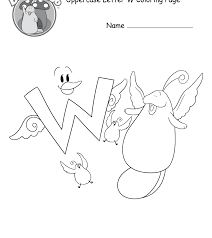 The Letter W Color Page Create Printout Or Download Free Printable ...