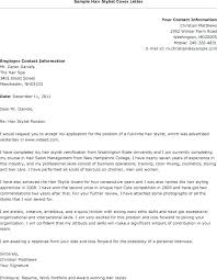Hair Stylist Cover Letter Resume Examples By Powerful Sample