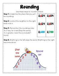 Rounding Anchor Chart 4th Grade Rounding Anchor Chart