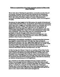 write an exploration of the dark elements present in much ado   much ado about nothing page 1 zoom in