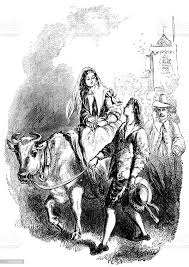 John Alden leading his white bull carrying Priscilla Mullins after... |  Stock Images Page | Everypixel