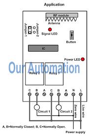 rf remote control coral home circuit diagram