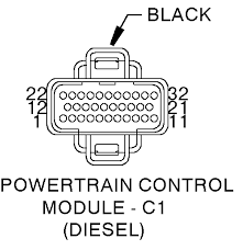 98 dodge ram 2500 4x4 diagram pcm a 1998 cab wiring harness powertrain control module c1 diesel cav circuit function 1 2 f18 18lg bk fused ign st run 3 4 k4 18bk lb sensor ground