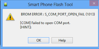 ارورهای sp flash tools