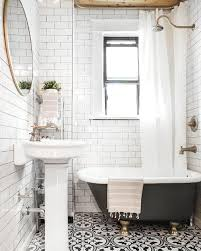 clawfoot tub bathroom designs. Delighful Tub Freshen Up Your Bathroom In 2017 With This Mixed Tile Trend  Brit  Co Intended Clawfoot Tub Designs T