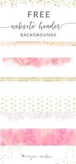 Free Pink Gold Website Header Backgrounds Social Media And