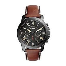 fossil watches men debenhams fossil men s chronograph leather watch fs5241