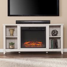 parkdale white electric fireplace tv stand
