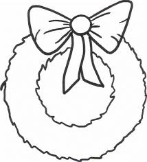 Small Picture Wreath Coloring Sheet