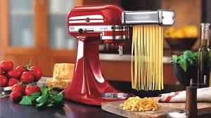 modern kitchen ideas with glossy red artisan kitchen aid stand mixer kitchen aid pasta roller