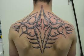 Ornament Tribal Tattoo On Upper Back By Zakknoir