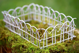 white wire garden fence. White Wire Garden Fence