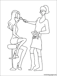 Theatrical Makeup Coloring Page Coloring Pages