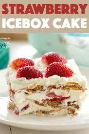 Strawberry Icebox Cake A Deliciously Satisfying No Bake Icebox Cake