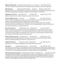 Office Manager Sample Resume Gorgeous Example Job Experience For A Sequential Resume