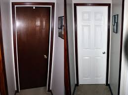 painted door with stained trim interior doors diy home renovation home improvement fresh
