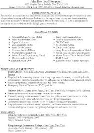Police Officer Resume New Police Officer Resume Samples Sample Law Enforcement Examples For