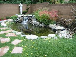 Backyard Ponds Build Fish Pond Waterfall Great Backyard Designs Backyard