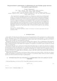 nonperturbative quantizationàquantizationà la heisenberg for non abelian gauge theories two equation approximation pdf available
