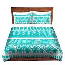 graphic design duvet covers decroative duvet covers and shams bedding organic saturation boho blue aztec