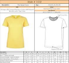 Tee Shirt Size Chart Womens Short Sleeve Unisex Fit T Shirt