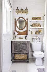 this tiny bathroom got a big ol countrified makeover countryliving com