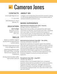 Template 2017 Resume Format Cv Template In Administative Worker Best