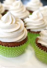 Carrot Cake Cupcakes Wvanilla Bean Cream Cheese Frosting Through