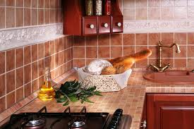 selection of color of kitchen tiles