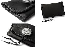 the meal genuine leather which is middle wallet elk skin deerskin coin case card case mexican