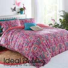 pieridae paisley pink grey duvet quilt bedding cover and pillowcase bedding set duvet sets complete bedding sets bed sheets pillowcase