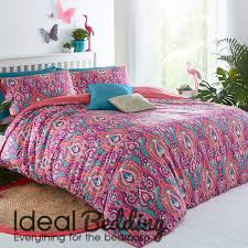 pieridae paisley pink grey duvet quilt bedding cover and pillowcase