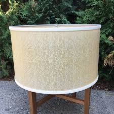 Vintage 16 Pale Yellow Table Lamp Shade Mid Century Cream Color Lampshade Ebay