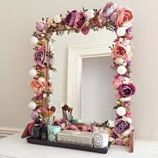 diy crafts for home flower projects crafts home decorations fab mirrors you can easily make yourself diy crafts for home